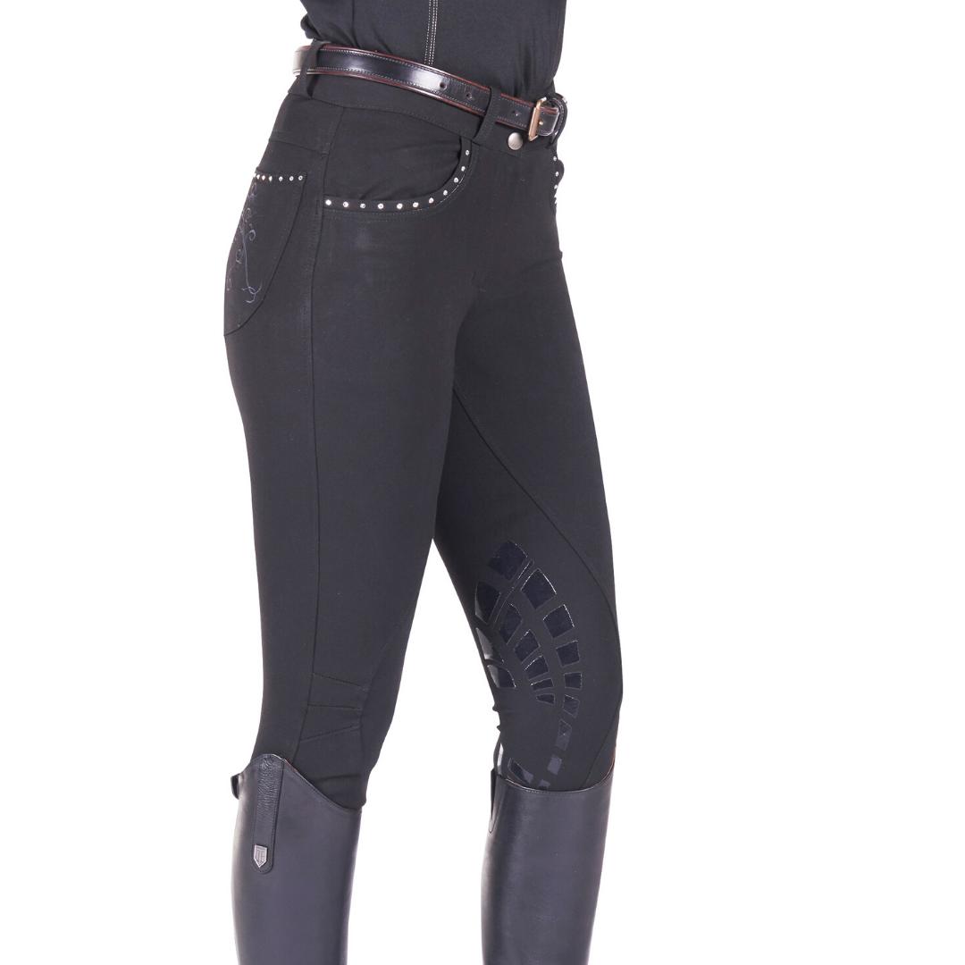 Just Togs Ladies Glitz Breeches in Black